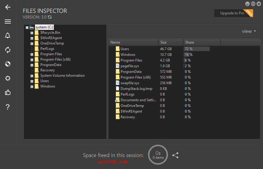 Files Inspector分析文件夹结果界面