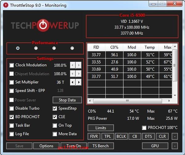 throttlestop汉化版_锁定cpu频率、cpu防降频工具