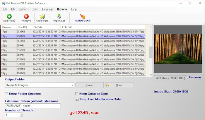Exif Remover照片批量删除exif信息工具_支持右键删除exif数据