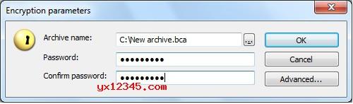 BCArchive创建加密文件教程