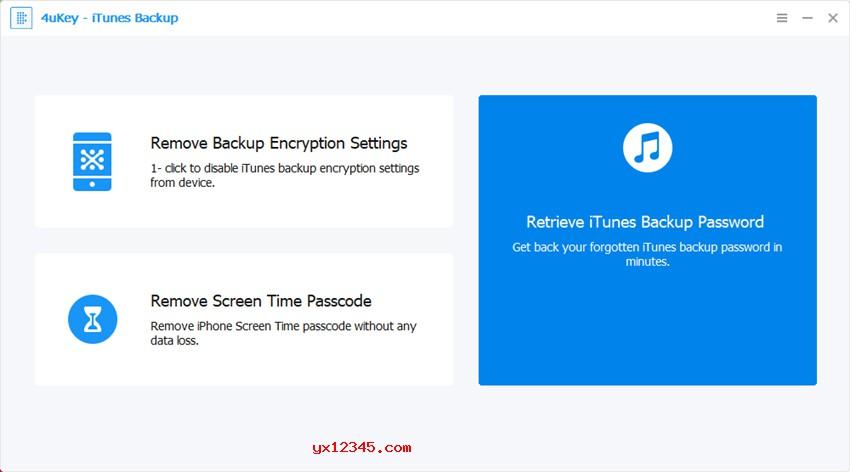 Tenorshare 4uKey iTunes Backup Unlocker使用教程