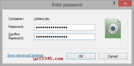 设置虚拟分区参数并输入解密密码