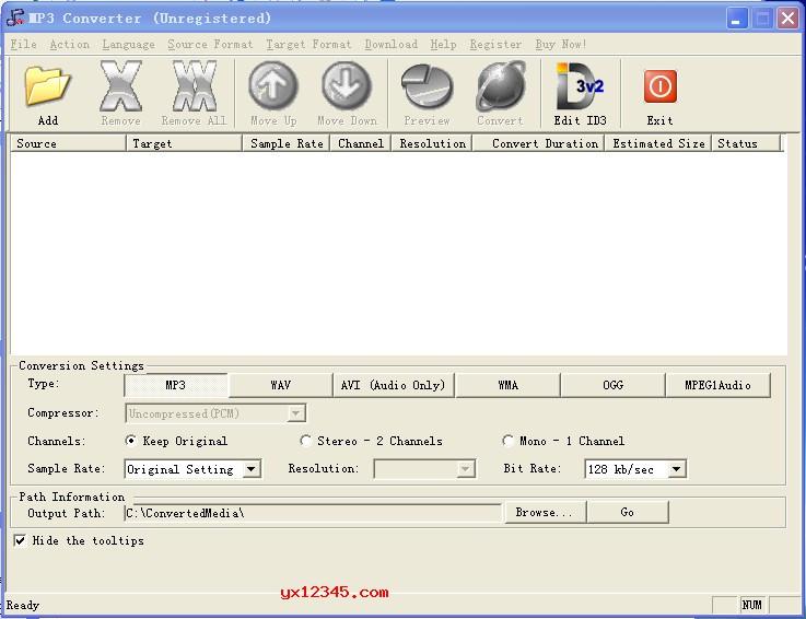 AVConverter MP3 Converter官方主界面