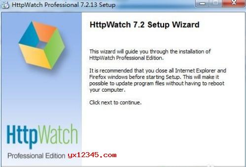 双击HttpWatch安装程序先安装官方软件