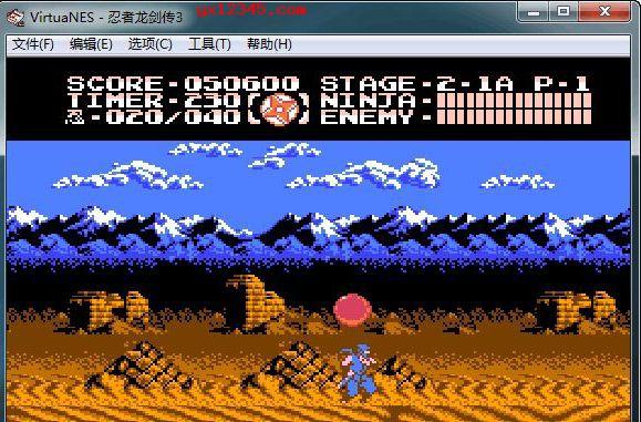 VirtuaNES模拟器玩忍者龙剑传3画面截图