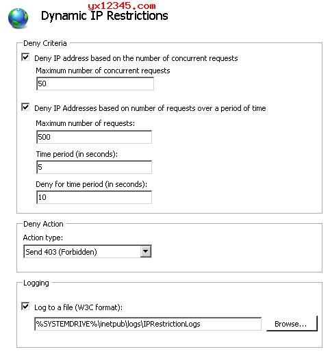 Dynamic IP Restrictions_IIS7、IIS7.5动态IP限制插件