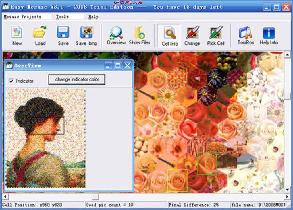 蒙太奇马赛克拼图效果制作软件_Easy Mosaic Home