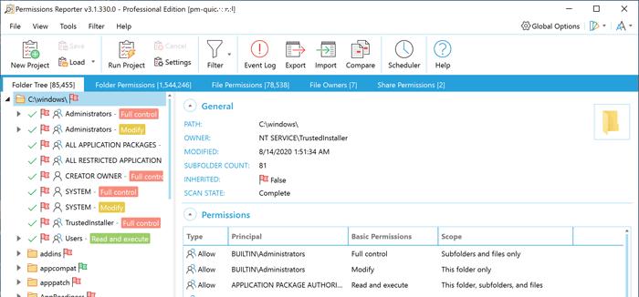 ntfs权限分析管理软件_NTFS Permissions Reporter破解版