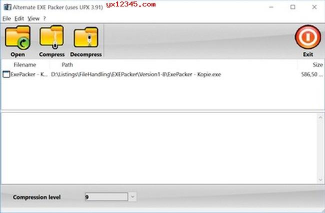 Alternate EXE Packer主界面截图