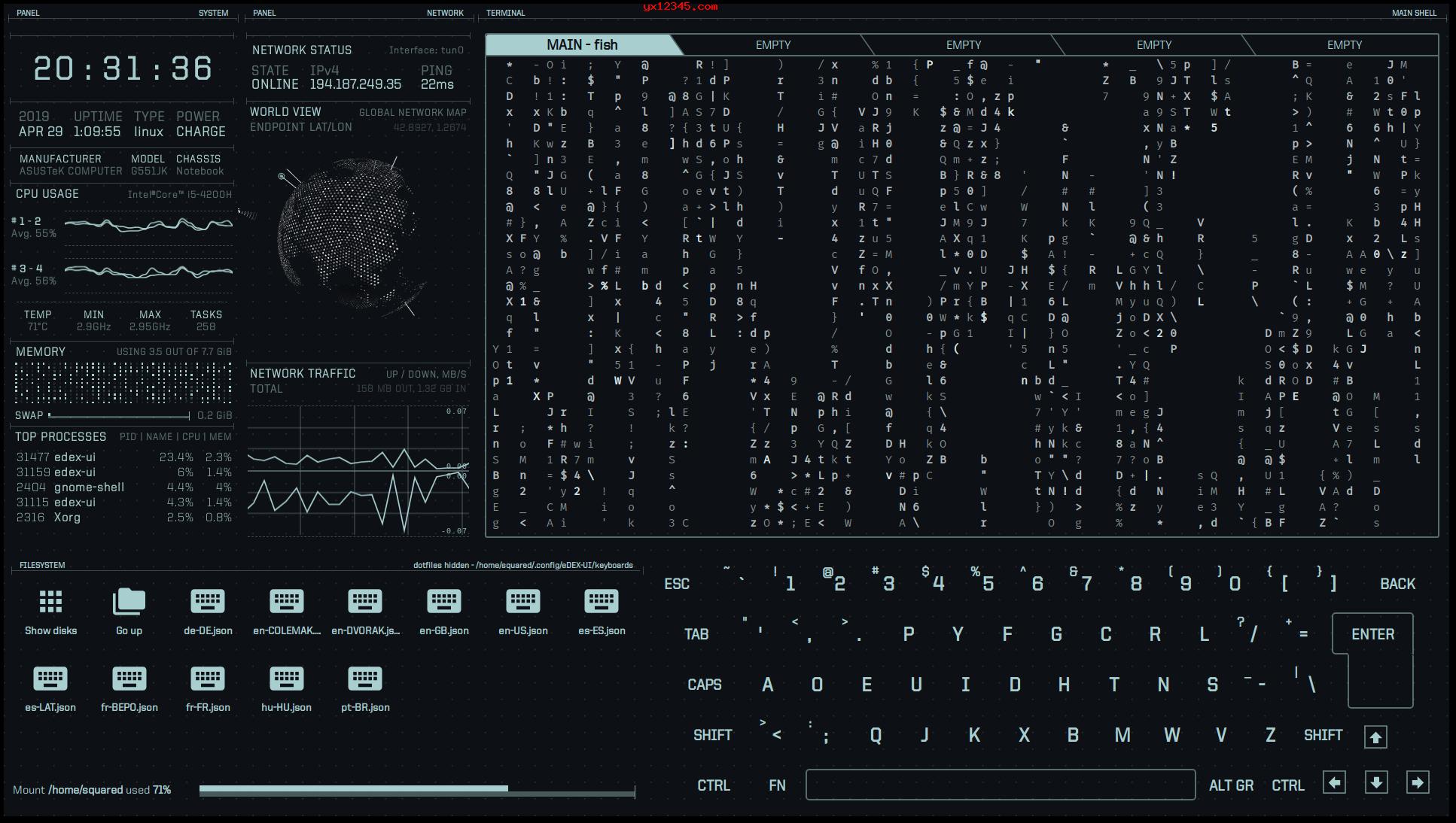 eDEX-UI终端模拟界面3