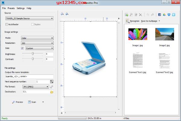 scanitto pro中文汉化破解版_带有OCR功能的扫描仪扫描软件