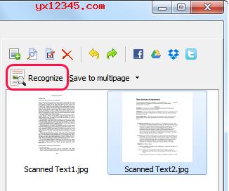 scanitto pro扫描识别扫描图像上的文字教程