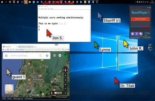 teamplayer多鼠标同时使用效果截图