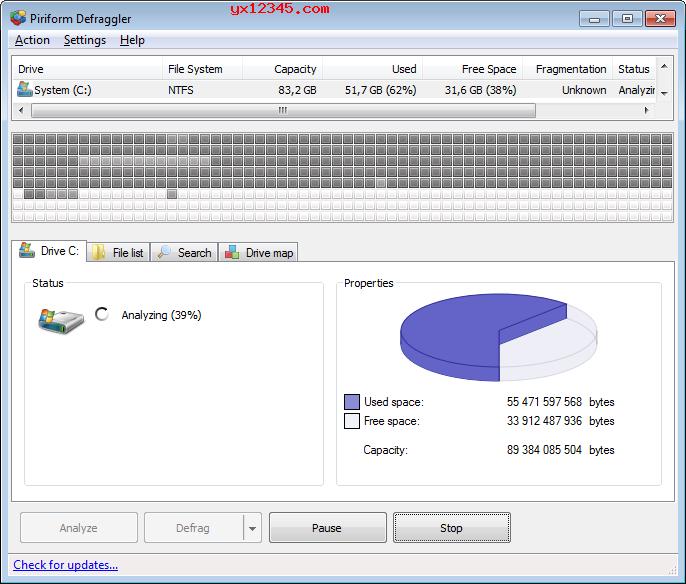 defraggler整理磁盘碎片教程