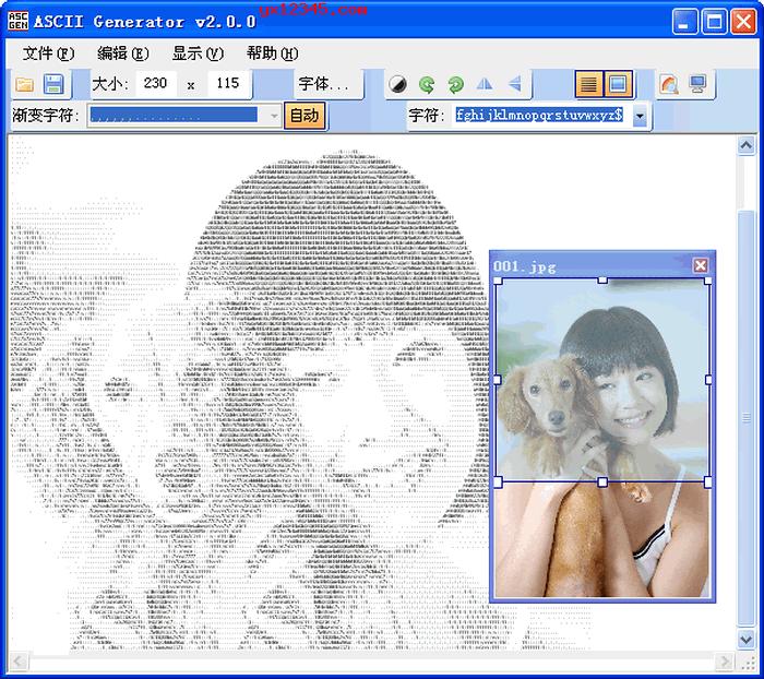 图片转ascii字符画软件_ASCII Generator汉化版