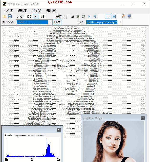 ASCII Generator将图片转换成ascii字符画教程