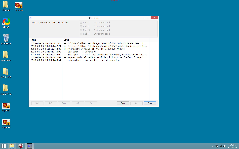 SCP服务器界面截图