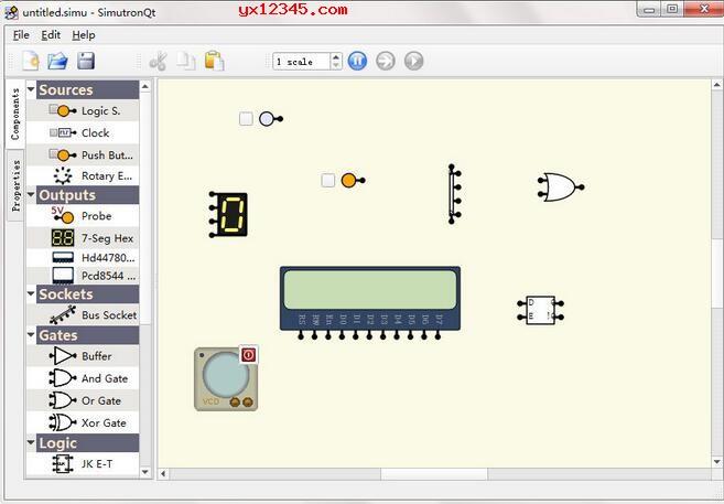 SimutronQt模拟电路效果展示