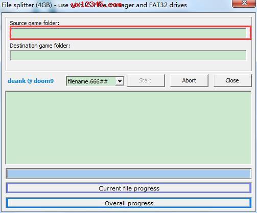 打开split4g软件,选择ps3游戏文件