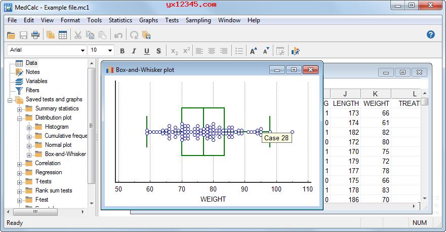 MedCalc统计软件_生物医学研究统计分析与图表制作软件