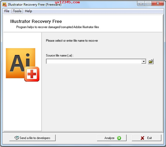 ai文件损坏修复工具_Illustrator Recovery Free_修复损坏的ai文件