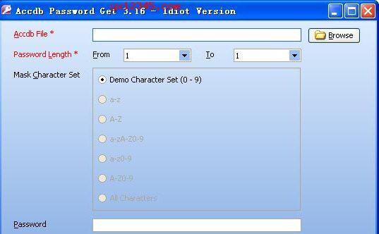 Accdb Password Get使用教程