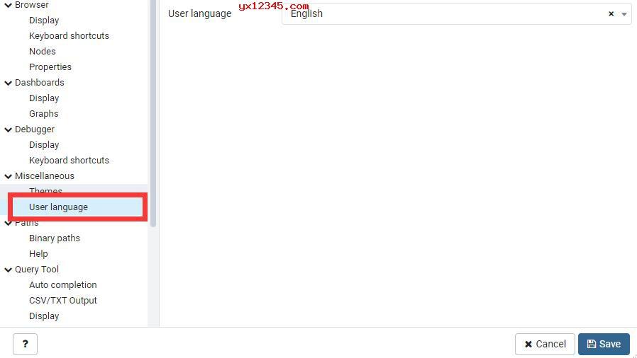 找到Miscellaneous下的User Language