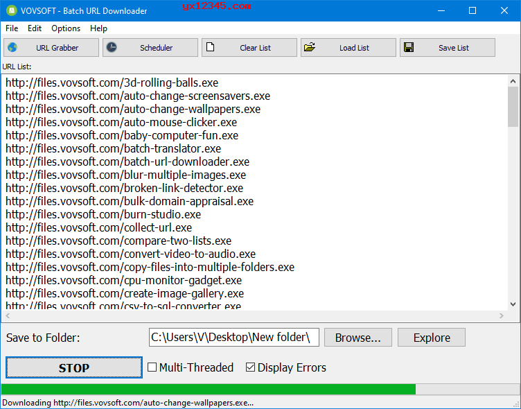 根据URL批量下载文件工具_VovSoft Batch URL Downloader