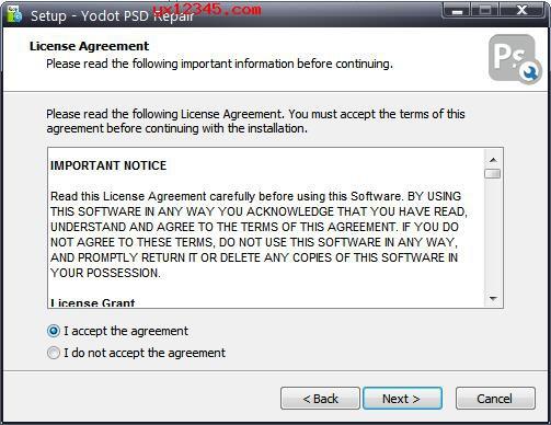 运行Yodot PSD Repair安装程序