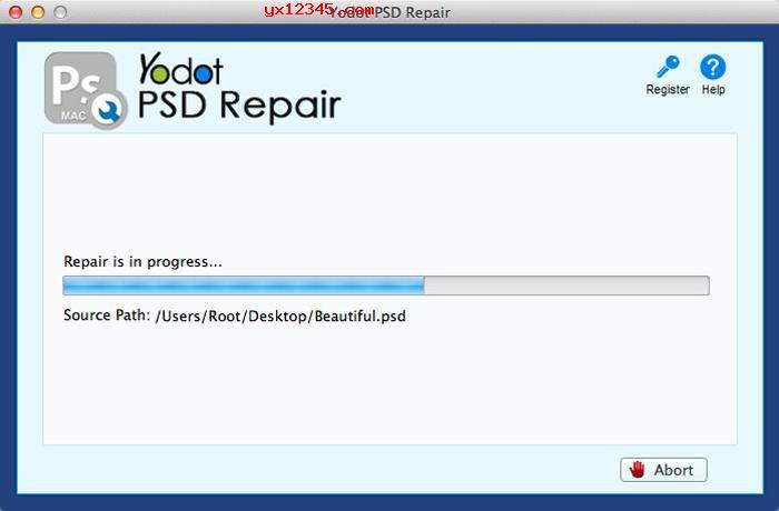 打开软件导入需要修复的PSD文件