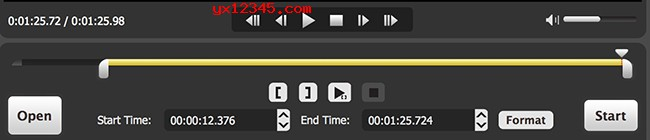 打开软件,导入视频/音频文件随后设置切割段