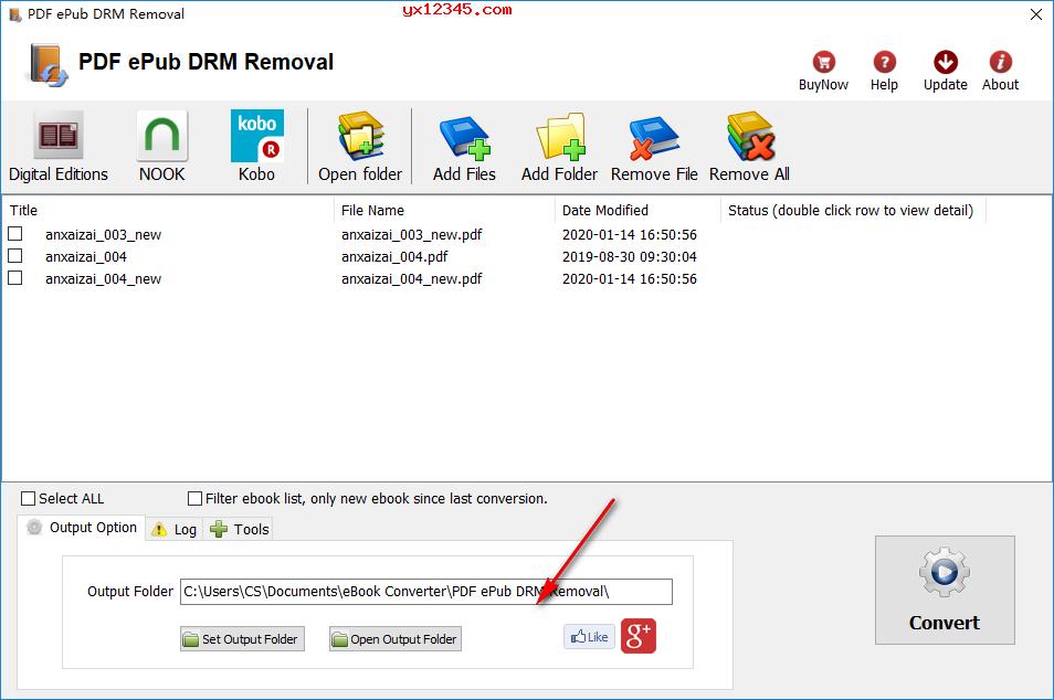 打开软件导入选择epub pdf文件