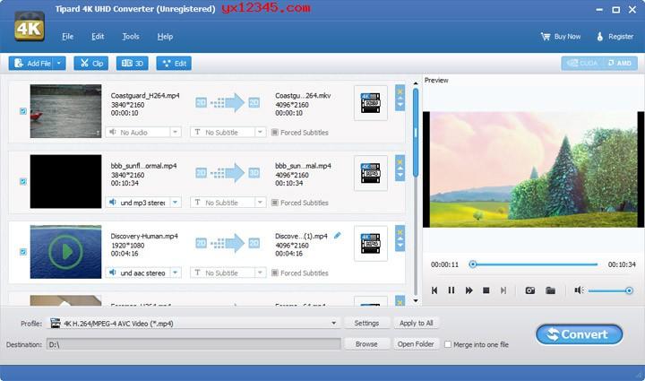 高清4K视频转换器_Tipard 4K UHD Converter绿色版