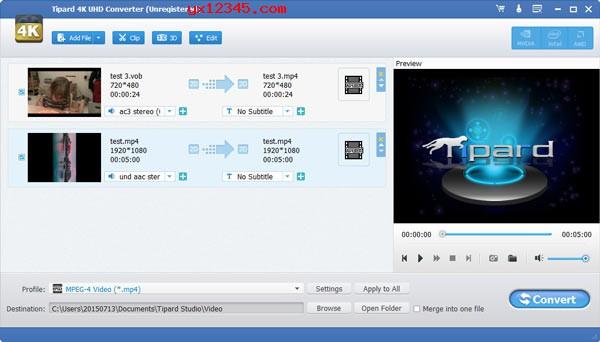 Tipard 4K UHD Converter转换4K视频教程