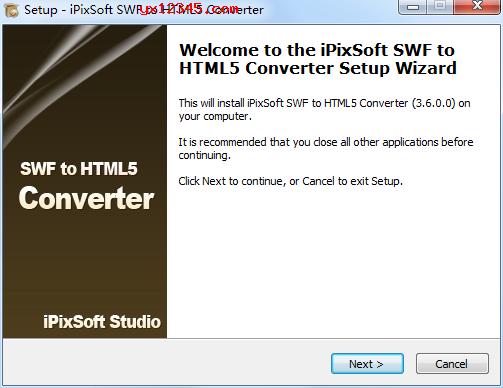 iPixSoft SWF to HTML5 Converter安装教程