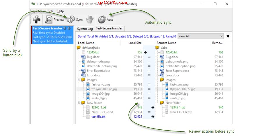 FTP Synchronizer官方界面截图