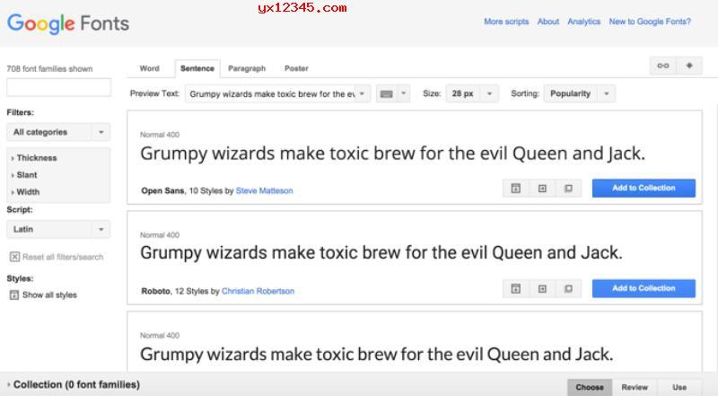 Google Fonts字体欣赏1
