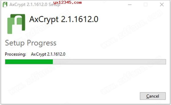 双击AxCrypt安装程序先安装官方软件