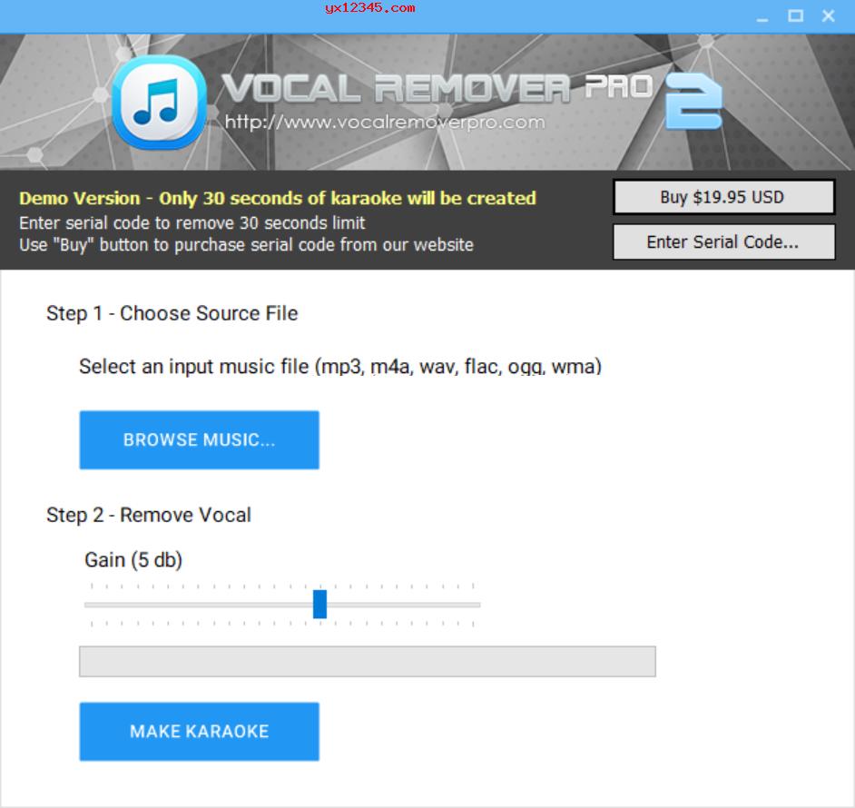 Vocal Remover Pro歌曲消除人声软件_消除音乐人声只留下伴奏