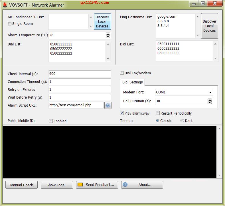 VovSoft Network Alarmer服务器监控程序_通过ping测试监控服务器