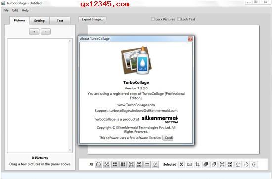 """将""""TurboCollage.exe""""补丁文件覆盖到软件安装目录中替换即可"""