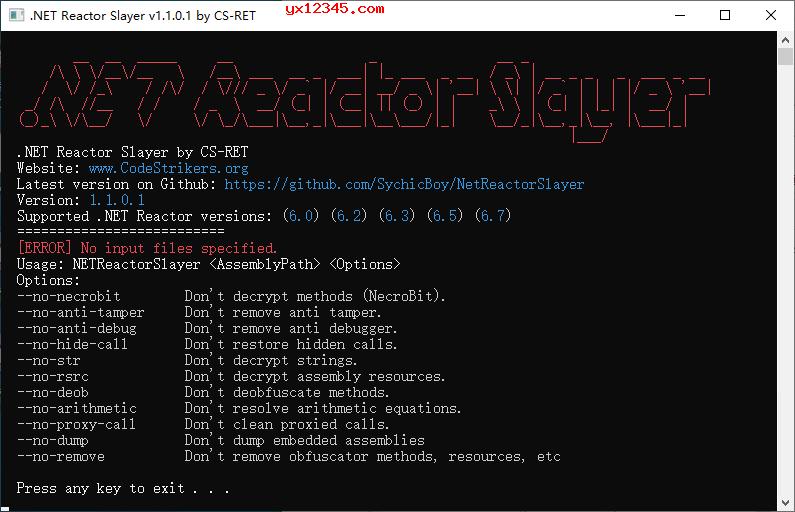 .NET Reactor脱壳工具_.Net Reactor Slayer