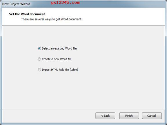 选择一个Word文件